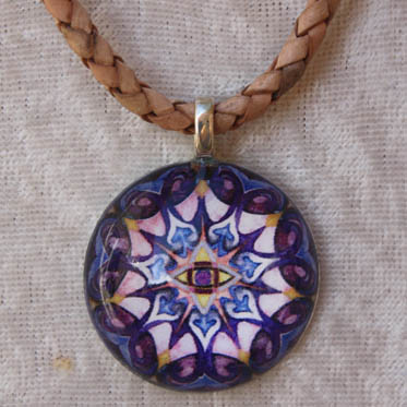 Third eye mandala pendant mandala art plates third eye mandala 30mm resin back pendant for 14 mozeypictures Image collections