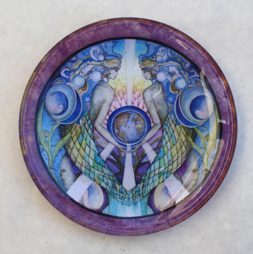 Mother Ocean Mandala Plate Mandala Art Plates